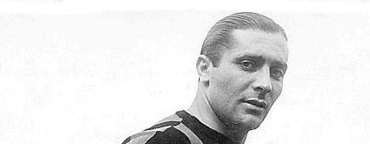 Giuseppe Meazza started as a forward and finished his caree ron the wing. Through his great skill, talent, and capacity he was the brain for Italy as it won titles in 1934 and 1938, scoring 53 goals in 301 matches for the team.