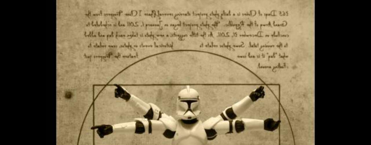 'El trooper de Vitruvio', basado en el famoso 'Hombre de Vitruvio' de Leonardo Da Vinci.