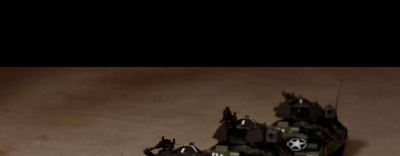 'El trooper del tanque o El trooper desconocido', basada en la célebre foto de Jeff Widener de la plaza de Tiananmen.