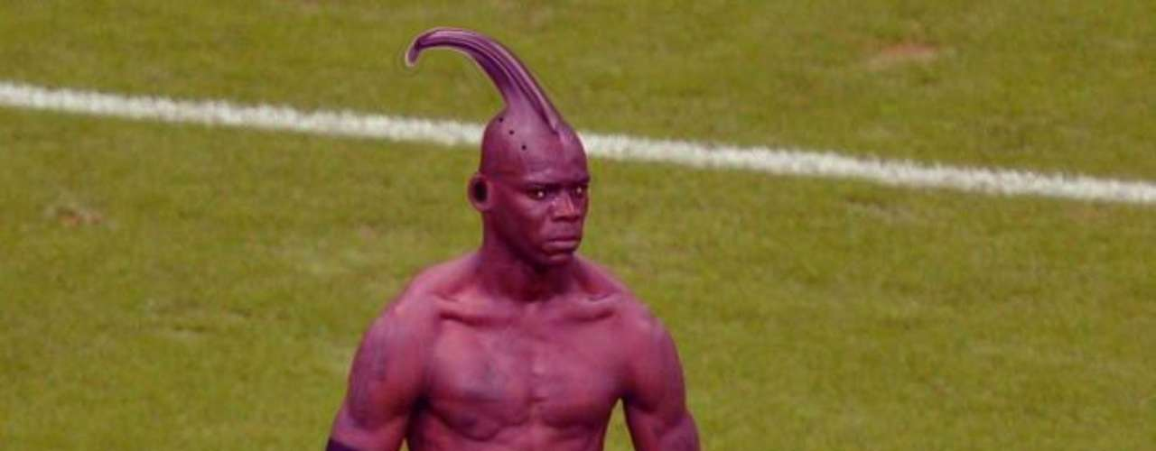 How did Balotelli manage to embarrass the Germans? He's an alien of corse.
