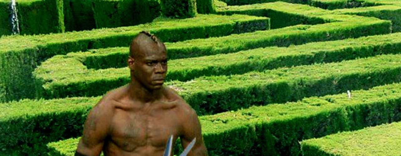 Making sure he plays in only the top pitchesin Europe, Balotelli is also an experienced gardener.