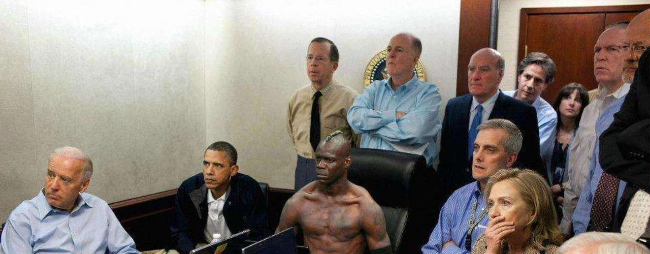 Balotelli meets with world leaders to talk about the latest foreign policy.