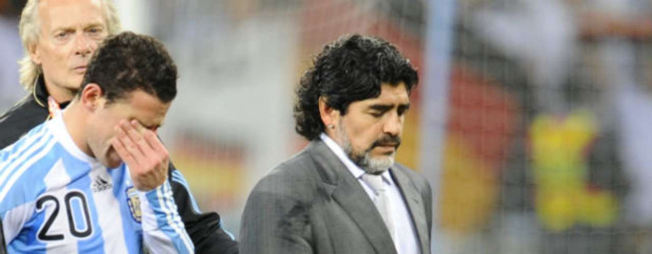 Maradona left the national team after a disastrous rout. Germany beat his squad 4-0 in the quarterfinals of the World cup. His coaching legacy with the team: 25 games, 18 victories, 7 losses, and no ties.