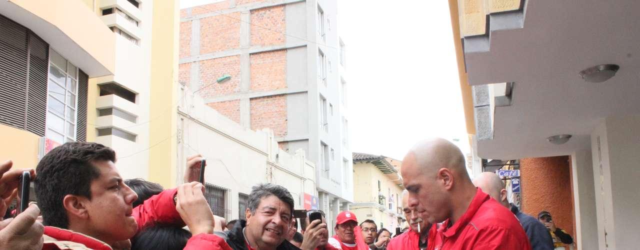 Ambiente de final es el que vive Independiente Santa Fe en su concentración. \
