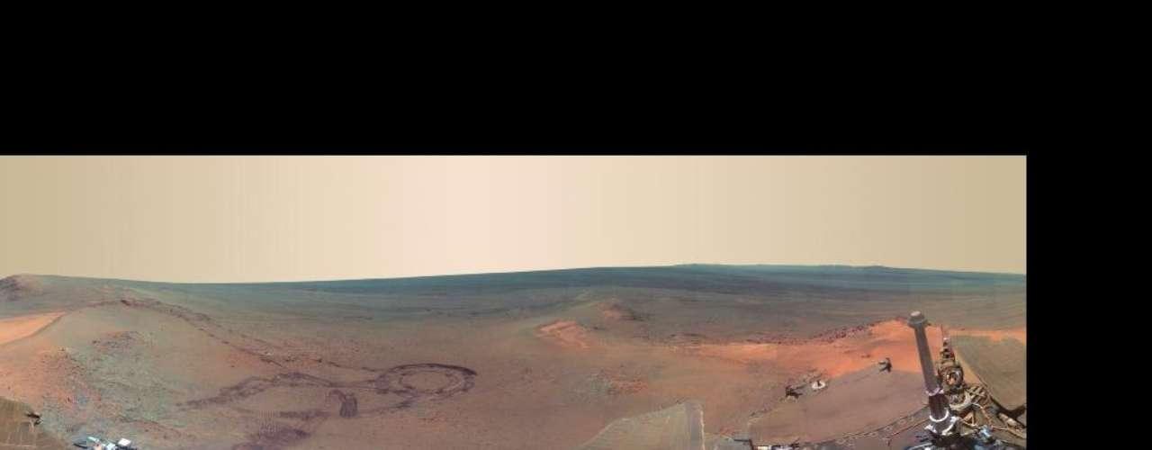 Opportunity ha estado trabajando en Marte desde enero de 2004. Sin embargo, las vistas fueron tomadas entre el 21 de diciembre de 2011 y el 8 de mayo de 2012, cuando Opportunity permaneció estacionada en un lugar llamado Greeley Haven.