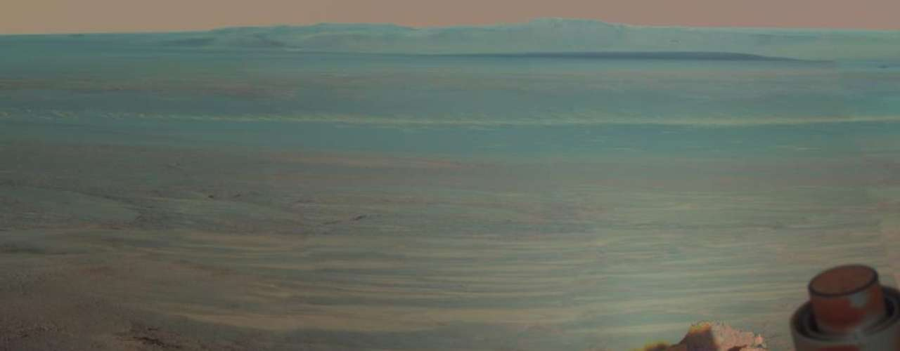 Esta semana la Nasa exhibió una vista panorámica de Marte tomada por el vehículo Mars Exploration Rover Opportunity, que mostró \