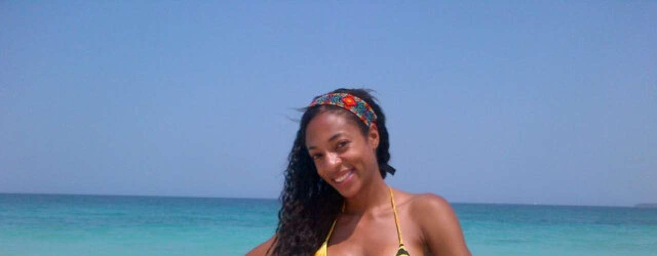 La actriz Nina Caicedo llega al grupo de las finalistas para representar a las mujeres afrocolombianas con su belleza.