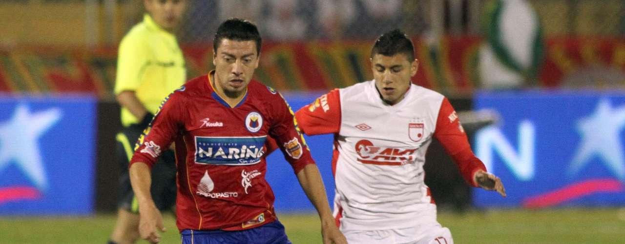 Omar Rodríguez por momentos generó fútbol para el Pasto, sin embargo, Kevin Rendón marcó primero para los locales de tiro libre y en el final del primer tiempo Julián Quiñones de cabeza marcó el empate con el que se conformaron los dos equipos hasta el final del partido