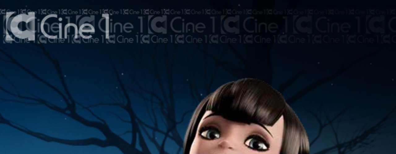 Póster promocional con el personaje de Mavis (Selena Gomez)