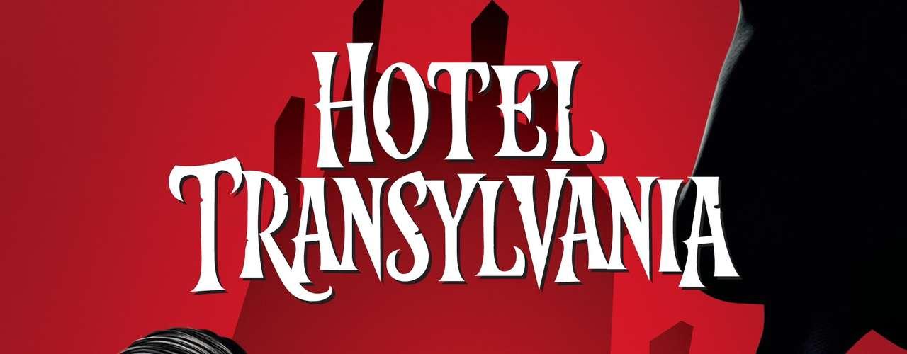 Afiche promocional con Drácula y Mavis para la cinta 'Hotel Transylvania', que viene en 3D.