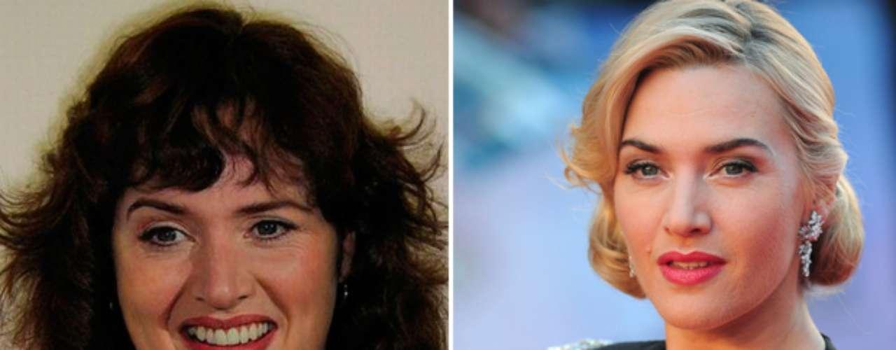 Muy pocos habrían imaginado a la bella Kate Winslet de cabello negro y pasada de kilos.