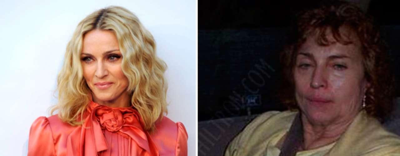 La cantante Madonna quedó irreconocible en la fotografía publicada en la página de Facebook.