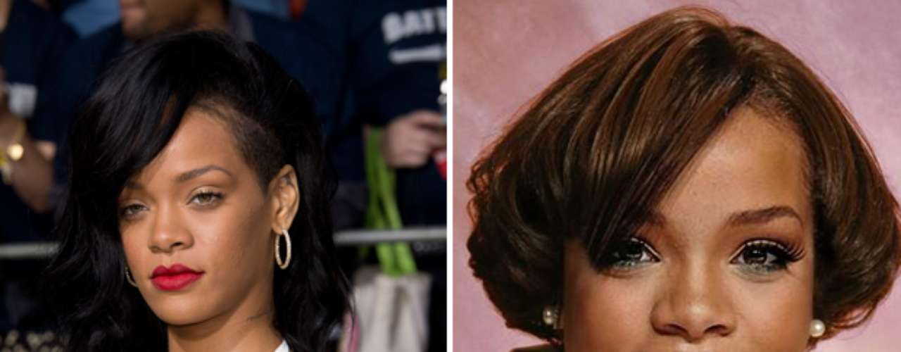Rihanna aunque es otra de las artistas que constantemente cambia su apariencia, quedó irreconocible en esta imagen.