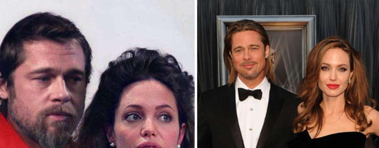 Angelina Jolie y Brad Pitt - Estas celebridades tienen todo el potencial para ser bellos pero la página en facebook Planet Hiltron ha encontrado la manera de bajarlos de su pedestal y revelar su identidad si no fueran famosos, sin los millones para tratamientos, estilistas ni la disciplina del ejercicio y la buena alimentación. ¿Cuál es tu transformación favorita?