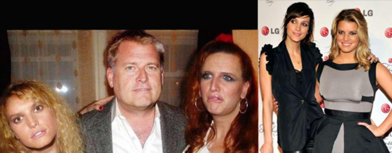 Jessica y Ashley Simpson quedan irreconocibles tras la transformación que se les hace en la página de Facebook.