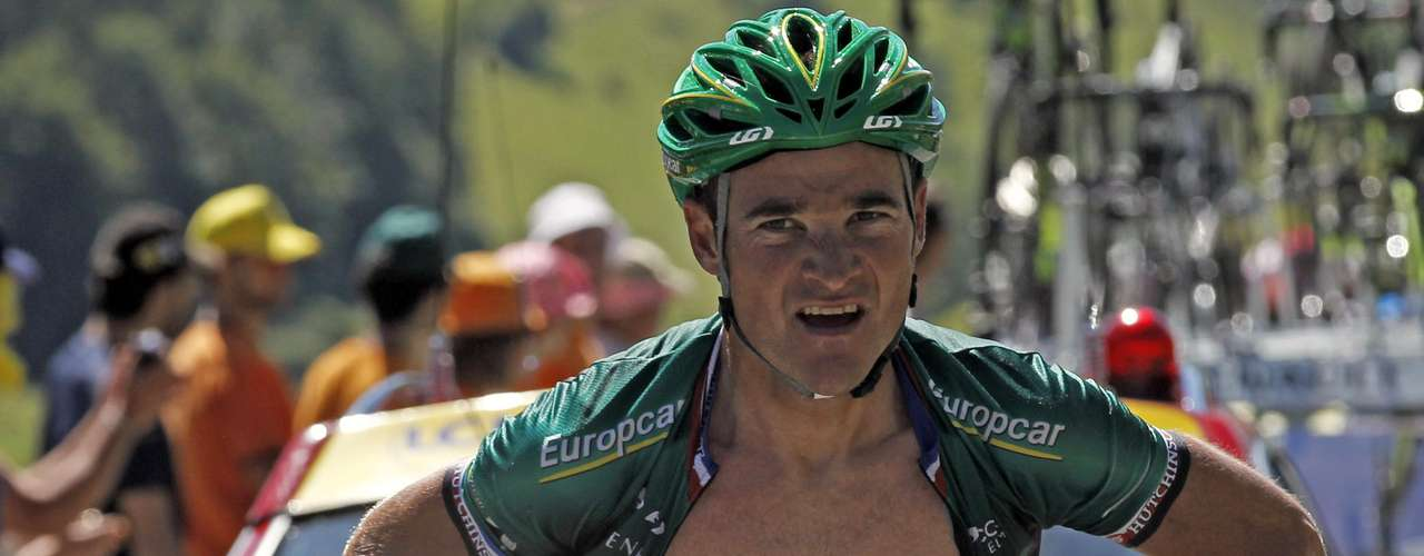 Team Europcar rider Thomas Voeckler of France cycles during the 16th stage of the 99th Tour de France.