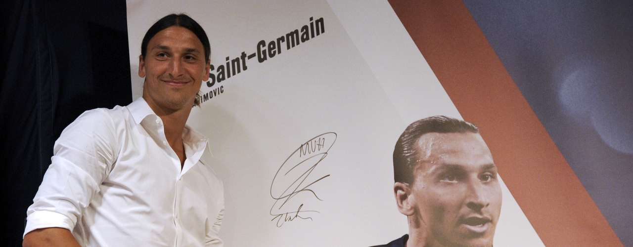 Swedish striker Zlatan Ibrahimovic was presented today as the latest reinforcement for Paris St. Germain.