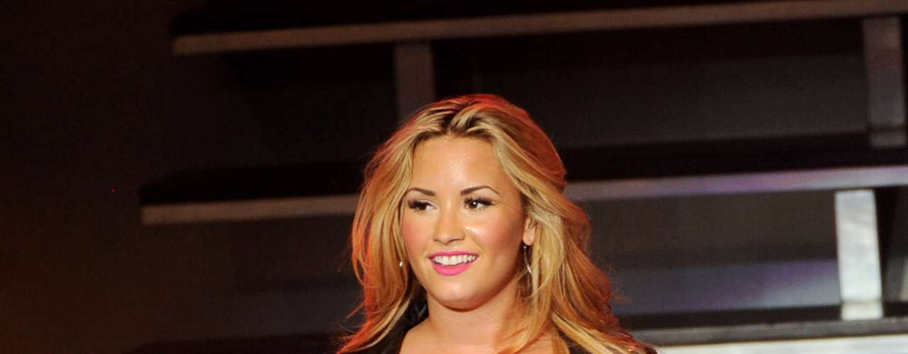 Demi Lovato performed at the Greek Theatre on July 18, 2012 in Los Angeles, California. The singer rocked the house wearing an super glam leather outfit. We're so happy to have her back on the scene happy and healthy.