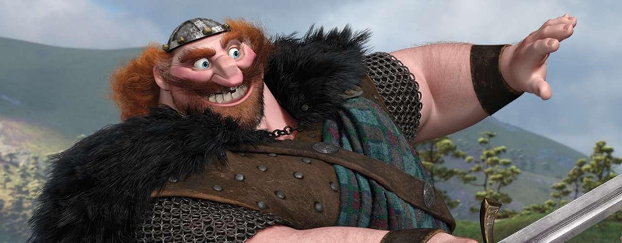 Como protector de su reino y su familia, el 'Rey Fergus' es un heroico guerrero con una majestuosa capa hecha con la piel de un oso, una gran espada y... ¡una pata de palo!, que es resultado de su enfrentamiento con el demonio oso 'Mor'du'.