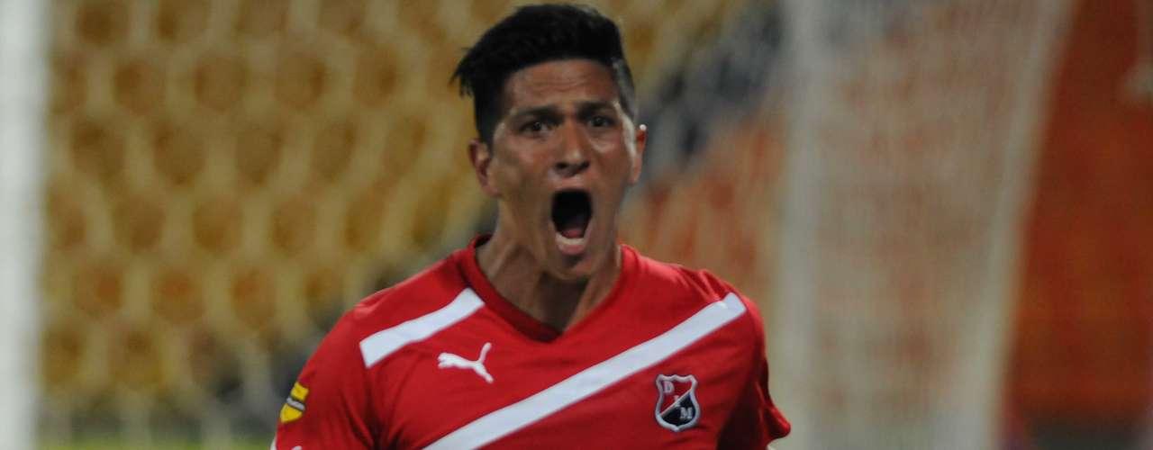 Germán Ezequiel Cano celebró su primer gol con el Independiente Medellín en la Liga Postobón 2.