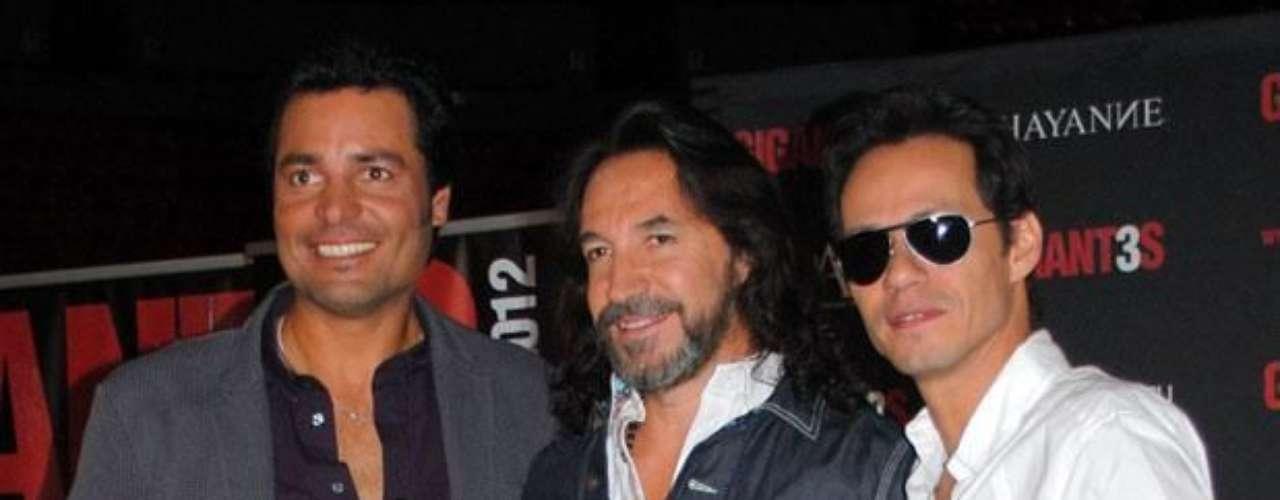 En una entrevista con AP, Marco Antonio Solís, Chayanne y Marc Anthony revelaron que entre las sorpresas que preparan en la gira de los \