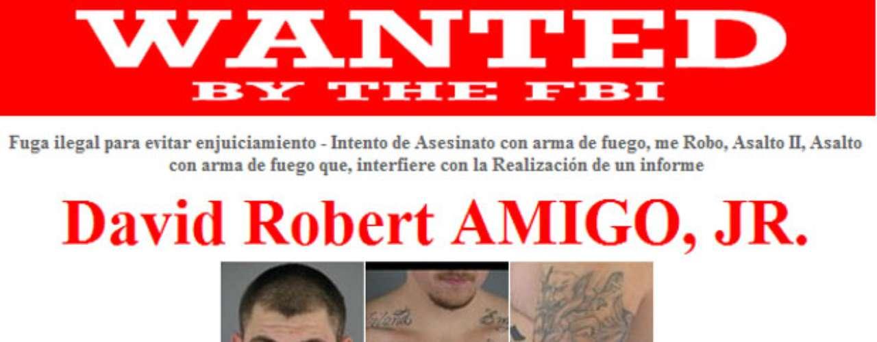 David Robert Friend, Jr., es buscado por su presunta implicación en el tiroteo de un hombre en Springfield, Oregon. El 28 de julio de 2011 recibió una orden de arresto federal. Amigo tiene vínculos en Riverside, California, y Alex, Oklahoma.