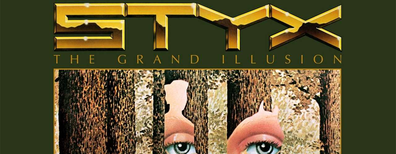 6.- Styx: The Grand Illusion (1977). Con este disco, los rockeros de Chicago decidieron jugar con los ojos del público, al presentar la figura de un jinete entre árboles y el rostro dulce de una mujer. ¿Los ubicas?