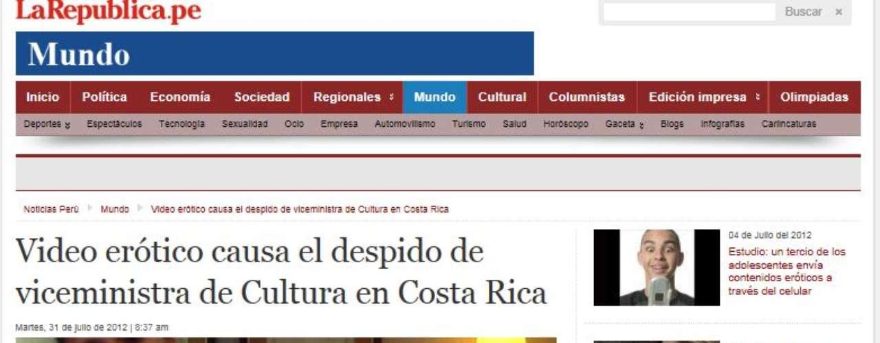 La República del Perú emite un comunicado oficial por parte del Gobierno de Costa Rica que dice que si bien las informaciones que han circulado están estrictamente relacionadas con la vida privada de Bolaños, y no con su quehacer como funcionaria pública, la separación de su cargo se dará para que ella pueda enfrentar este caso desde el ámbito privado.
