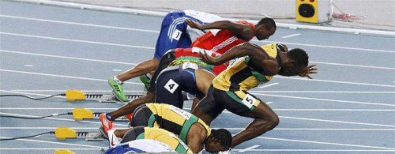 Tampoco quiso quedarse atrás en las pruebas de atletismo.