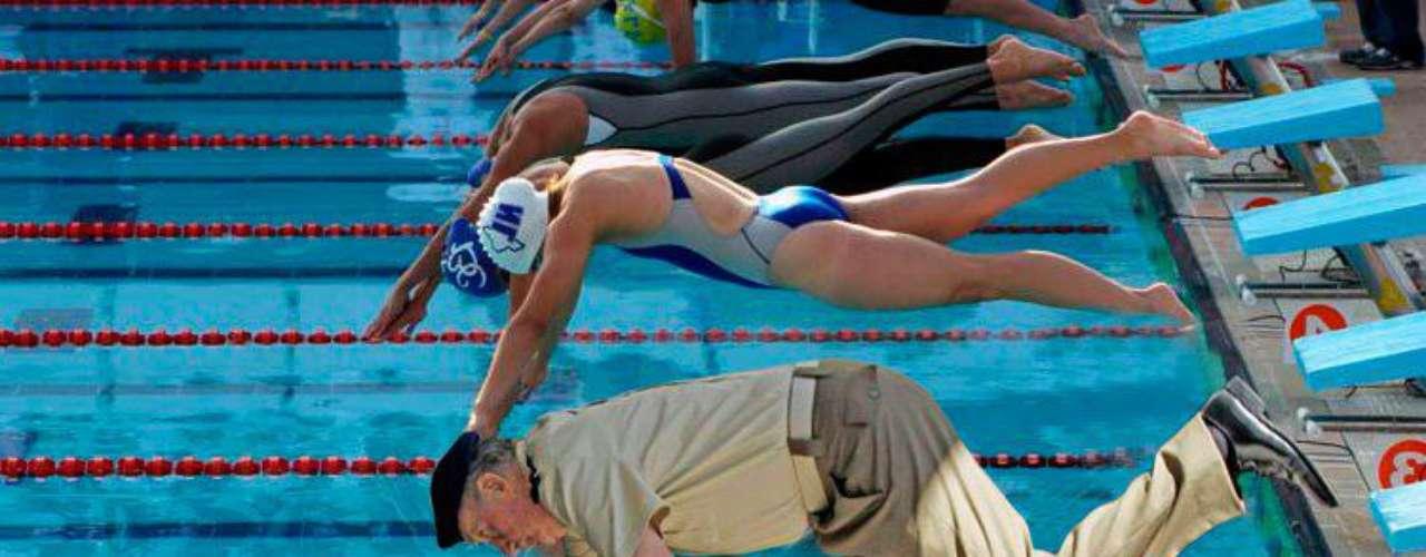 También participó en natación.