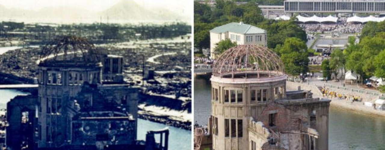 Unas 50.000 personas se congregaron el lunes en el parque de la paz de Hiroshima, ubicado cerca de lugar donde ocurrió la explosión de 1945 que destruyó gran parte de la ciudad y mató a unas 140.000 personas. Una segunda bomba atómica arrojada el 9 de agosto de ese año en Nagasaki mató a decenas de miles más e hizo que Japón se rindiera en la Segunda Guerra Mundial.