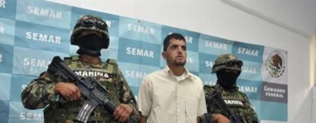 Mauricio Guizar, presunto capo de los Zetas en el sur de México, quien fue arrestado en julio, era \