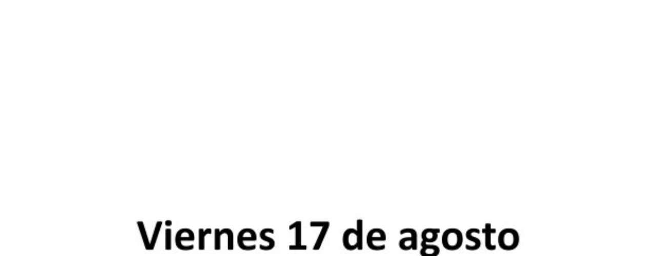 Los nueve partidos del certamen nacional se disputarán entre el viernes 17 de agosto y el domingo 19.