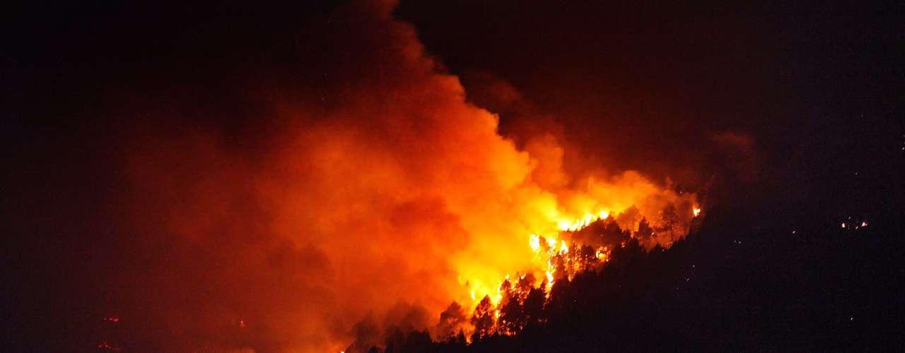 El fuego devastó también centenares de hectáreas en Cataluña, en el noreste, en la región de Guadalajara o en el parque natural de Cabañeros, en el centro de España.