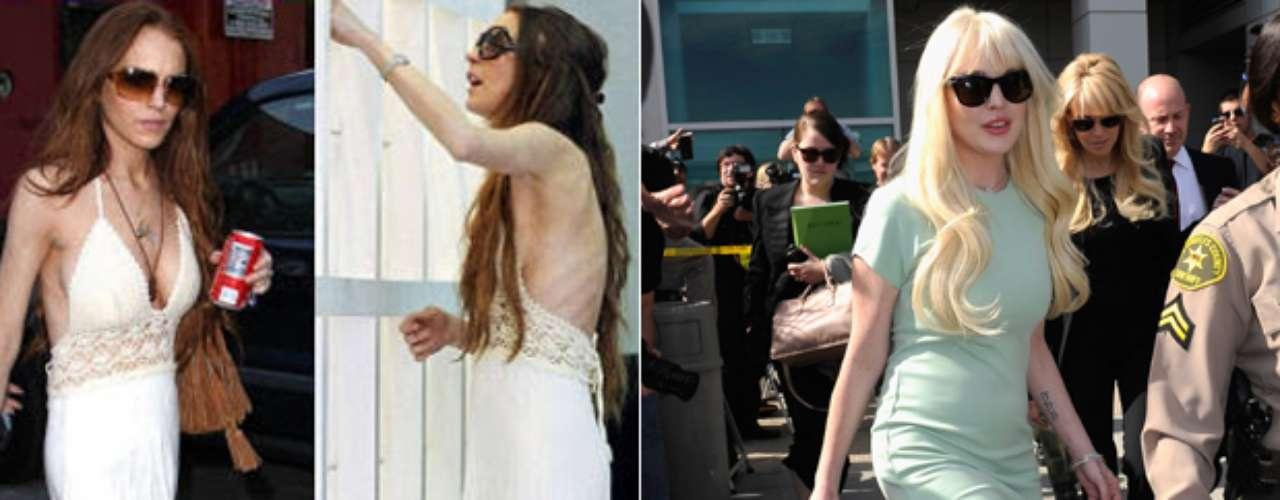 Lindsay Lohan en los últimos tiempos ha lucido en varias ocasiones muy delgada, tanto que los rumores de un posible trastorno alimenticio era la constante en los medios. Luego la propia actriz  reveló en la revista Vanity Fair que su pérdida de peso era el resultado de una bulimia.  Ahora la actriz luce mejor en comparación a años anteriores en donde los huesos sobresalían y su tez demacrada la hacia perder belleza.