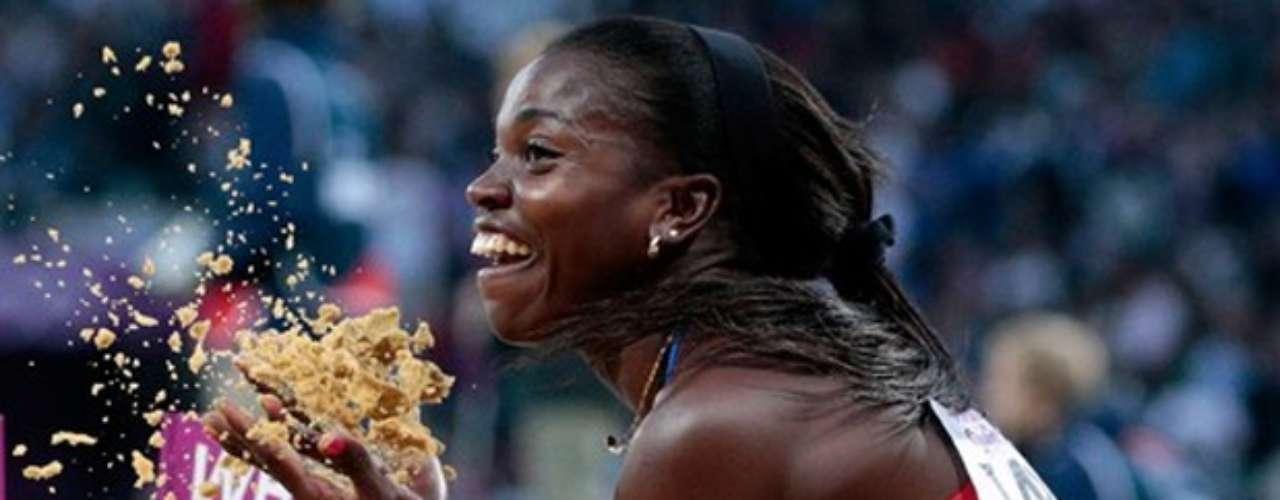 El sexto salto de Caterine Ibargüen le dio la medalla de plata en Londres, 14.80 metros al final fueron necesarios para que la colombiana se llevara la medalla