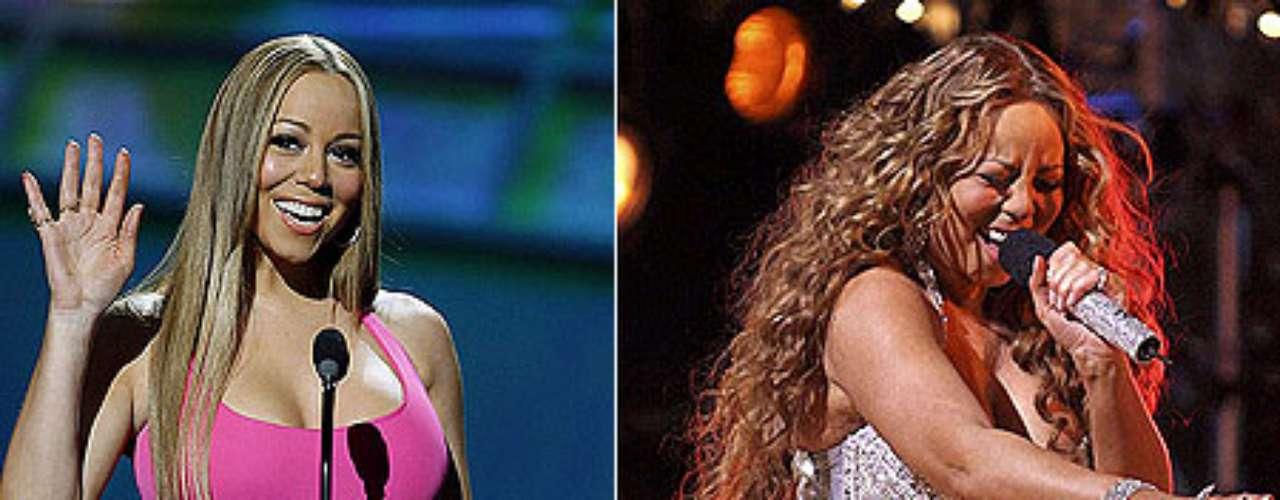 La cantante Mariah Carey sube y baja de peso constantemente y se le a visto delgado y con algo de sobrepeso.