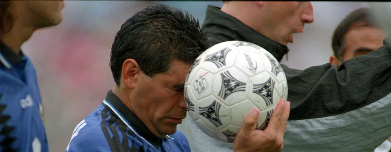 In 1991, Diego Maradona was suspended 15 months after testing positive for cocaine while playing for Napoli. During that period he was sentenced to 14 months probation. In the 1994 World Cup he again tested positive for ephedrine and was suspended 15 months.