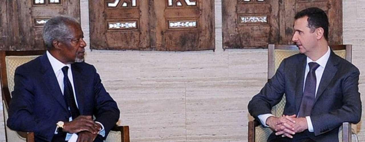 23 de febrero de 2012: Kofi Annan es designado por las Naciones Unidas para mediar en el conflicto y buscar una solución pacífica.