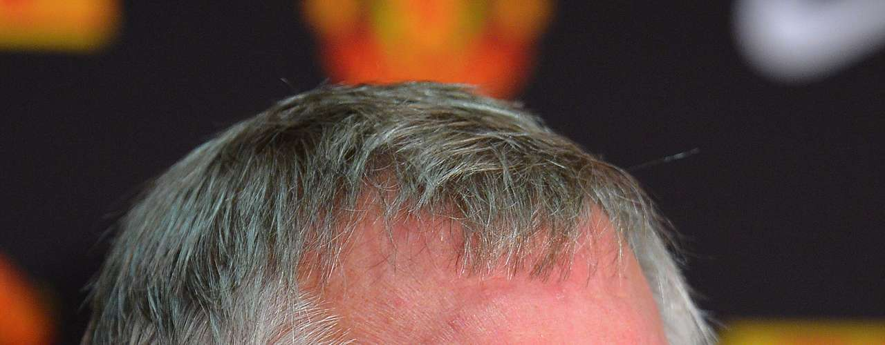 Despite the joyous occasion, Sir Alex Ferguson could not hide his anguish with the media.