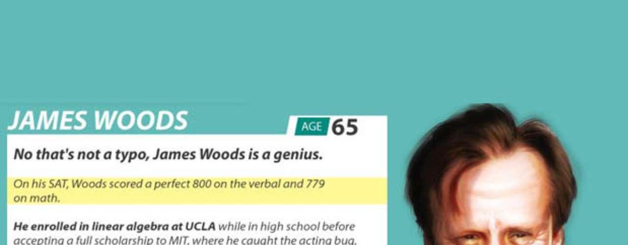 James Woods es actor y quizás, quien más llame la atención de la lista. El hombre decidió dedicarse a la actuación, pero no por eso es menos inteligente. Su IQ es de 180.