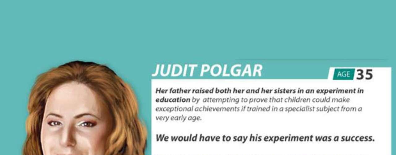 Judit Polgar es la única mujer de la lista y a la vez, una de las personas más jóvenes de la misma. A los 15 años, logró derrotar en una partida de ajedrez a Bobby Fisher. Su IQ es de 170.