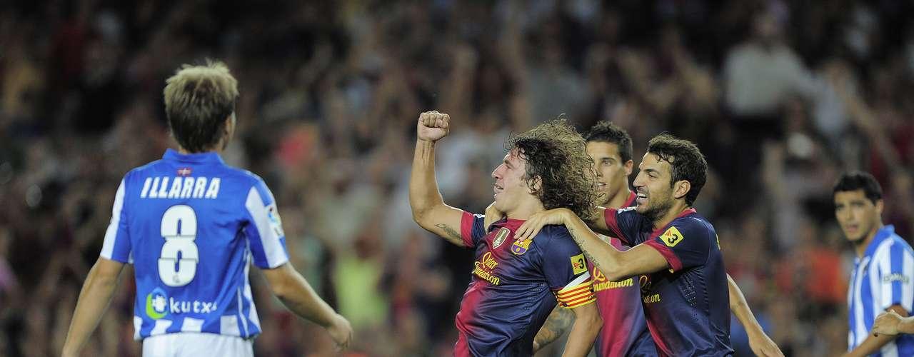 El gol de Puyol cayó en los primeros minutos del encuentro, pero la respuesta de la Real Sociedad llegaría unos segundos después.