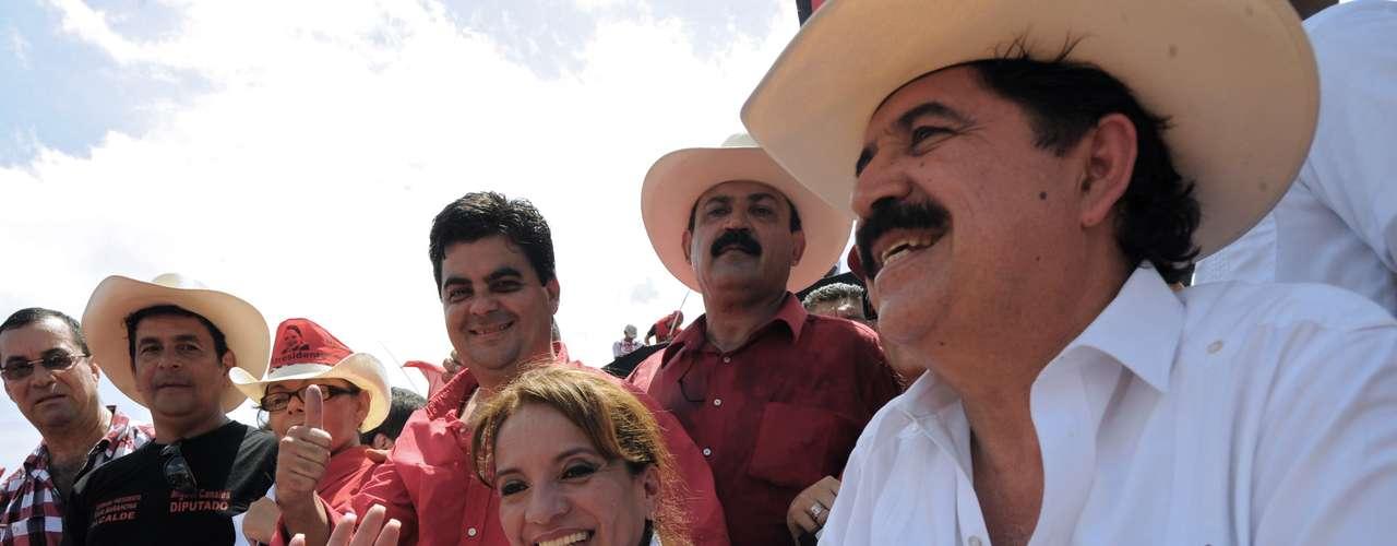 A fines de junio de 2009 el presidente de Honduras, Manuel \