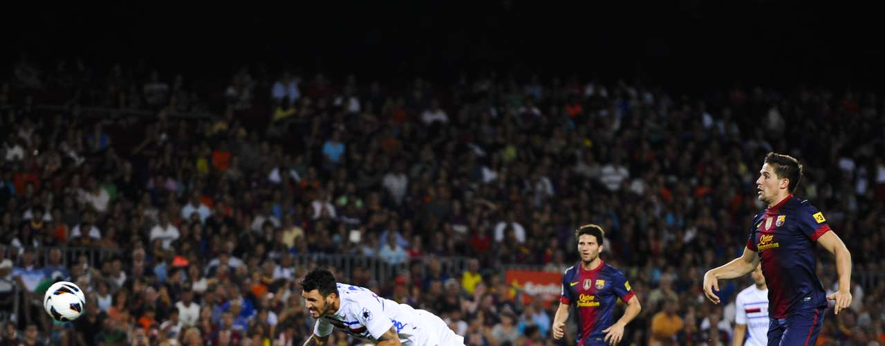 Barcelona plyed the Joan Gamper torphy against Sampdoria. Soriano scored the only goal with this nice header.