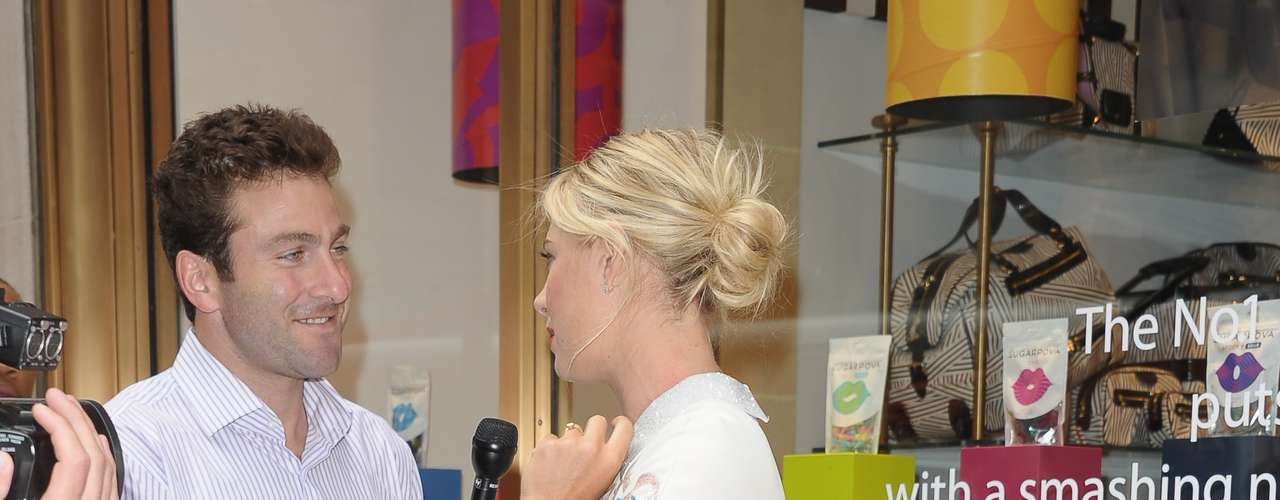 Sharapova is interviewed.