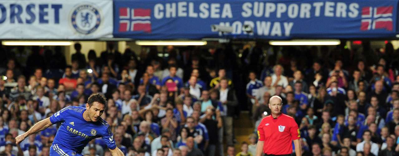 After Hazard was brought down in the area, Frank Lampard converted a penalty kick to give Chelsea the lead at Stamford Bridge.