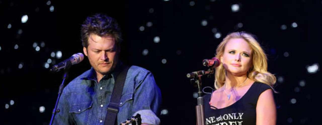 9. Blake Shelton y Miranda Lambert. Los artistas country han vendido 9.6 millones de discos.