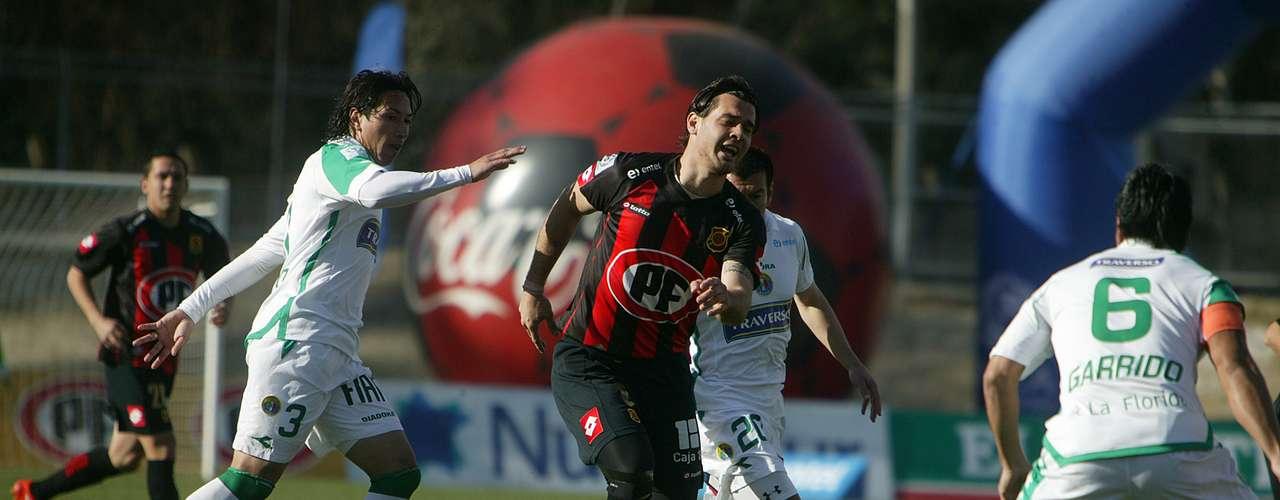 Conjunto de la Séptima Región derrotó a los verdes por la cuenta mínima gracias al tanto de David Llanos en el minuto 59.