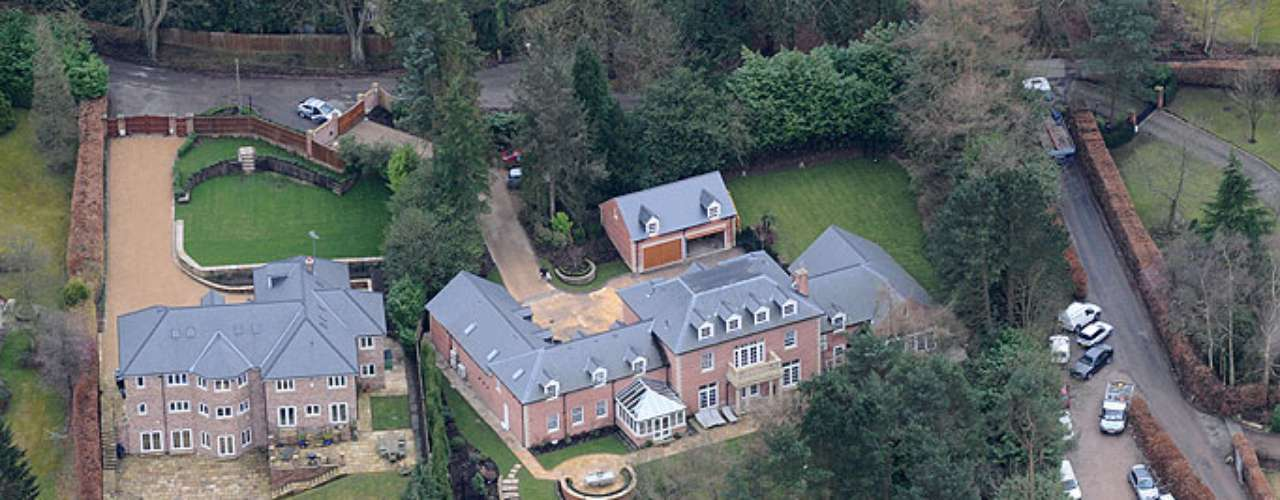 Wayne Rooney and his wife Coleen live in this 'modest' house valued at 5 million pounds.